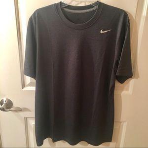 Nike Dri-Fit Short Sleeve Dark Gray T-Shirt Size L